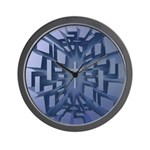 Abstract 3D Christian Cross Wall Clock