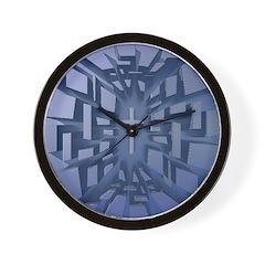 Abstract 3D Christian Cross Wall Clock