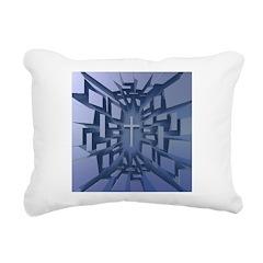 Abstract 3D Christian Cross Rectangular Canvas Pil