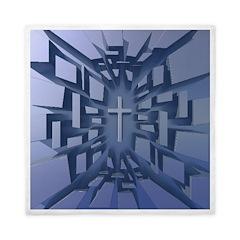 Abstract 3D Christian Cross Queen Duvet