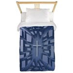 Abstract 3D Christian Cross Twin Duvet