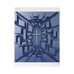 Abstract 3D Christian Cross Twin Duvet