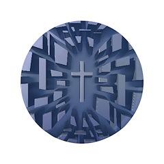 Abstract 3D Christian Cross 3.5