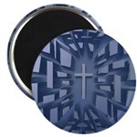 Abstract 3D Christian Cross Magnets