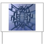 Abstract 3D Christian Cross Yard Sign