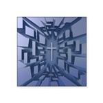 Abstract 3D Christian Cross Sticker