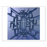 Abstract 3D Christian Cross Posters