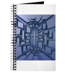 Abstract 3D Christian Cross Journal