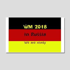 WM 2018 in Russia Car Magnet 20 x 12