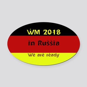 WM 2018 in Russia Oval Car Magnet