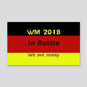 WM 2018 in Russia Rectangle Car Magnet