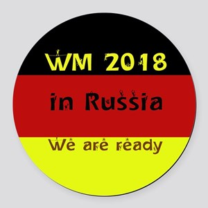 WM 2018 in Russia Round Car Magnet
