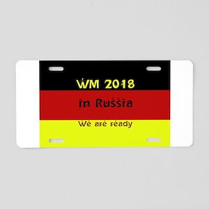 WM 2018 in Russia Aluminum License Plate