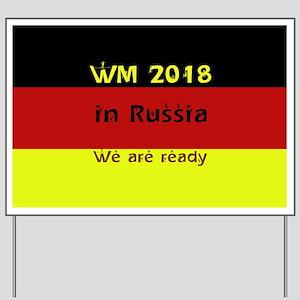 WM 2018 in Russia Yard Sign