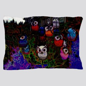 Abstract Owl Pillow Case