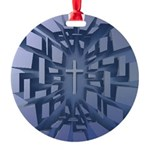 Abstract 3D Christian Cross Ornament