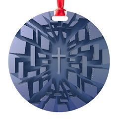 Abstract 3D Christian Cross Ornament