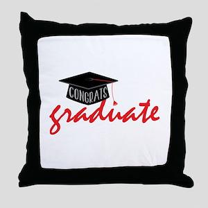 Congrats Graduate Throw Pillow