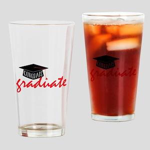 Congrats Graduate Drinking Glass