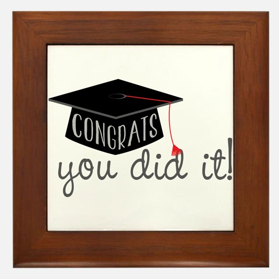 You Did It! Framed Tile