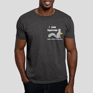 Love Squirrels Pocket Image Dark T-Shirt
