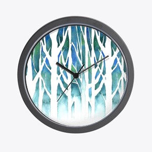 Winter Silhouette Wall Clock