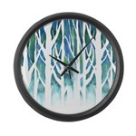 Winter Silhouette Large Wall Clock
