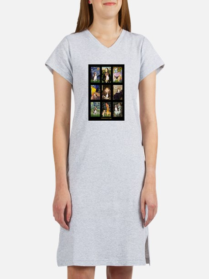 Beagle Famous Art--V.png Women's Nightshirt
