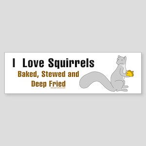 I Love Squirrels Bumper Sticker