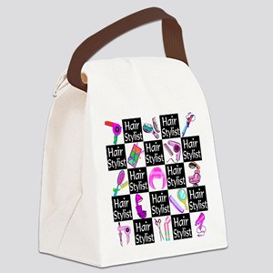 FOXY HAIR STYLIST Canvas Lunch Bag