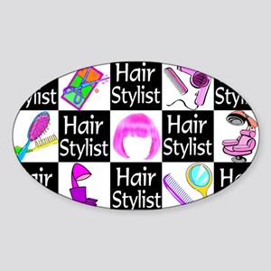 FOXY HAIR STYLIST Sticker (Oval)