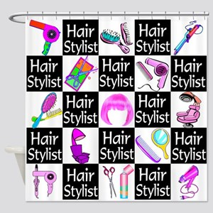 FOXY HAIR STYLIST Shower Curtain