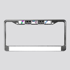 FOXY HAIR STYLIST License Plate Frame