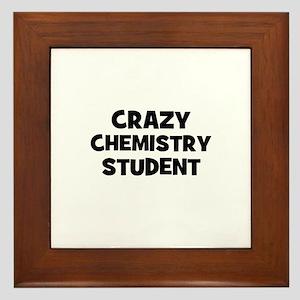 Crazy Chemistry Student Framed Tile