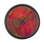 Autumn Fury Abstract Large Wall Clock