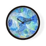 Aquatic Abstract Wall Clock