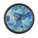 Aquatic Abstract Large Wall Clock