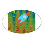 Abstract Rocket Ship Sticker