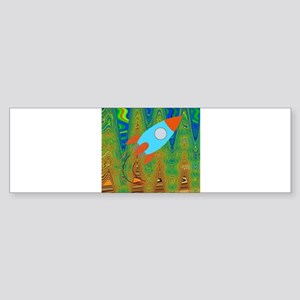 Abstract Rocket Ship Bumper Sticker