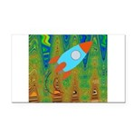 Abstract Rocket Ship Rectangle Car Magnet