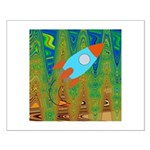 Abstract Rocket Ship Posters
