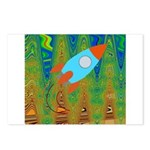 Abstract Rocket Ship Postcards (Package of 8)