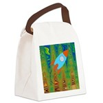 Abstract Rocket Ship Canvas Lunch Bag
