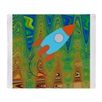 Abstract Rocket Ship Throw Blanket