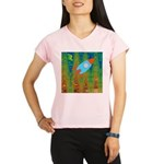 Abstract Rocket Ship Performance Dry T-Shirt