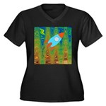 Abstract Rocket Ship Plus Size T-Shirt