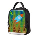 Abstract Rocket Ship Neoprene Lunch Bag