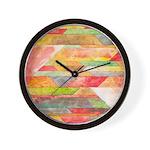 Crystal Colors Abstract Wall Clock