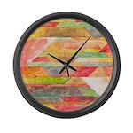 Crystal Colors Abstract Large Wall Clock