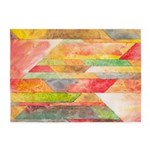 Crystal Colors Abstract 5'x7'Area Rug